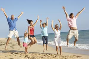 happy healthy people