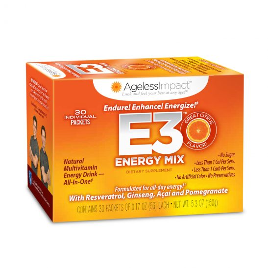 Ageless Impact E3 Multivitamin Energy Drink 1 pack