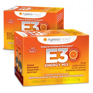Ageless Impact E3 Energy Multivitamin Drink Two Pack
